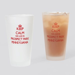 Keep calm we live in Prospect Park Drinking Glass