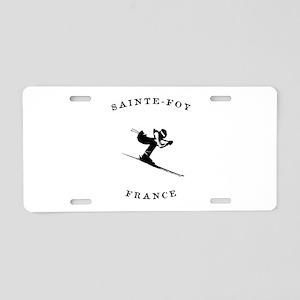 Sainte-Foy France Ski Aluminum License Plate