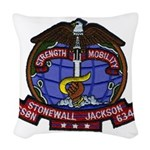 USS STONEWALL JACKSON Woven Throw Pillow