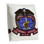 USS STONEWALL JACKSON Burlap Throw Pillow