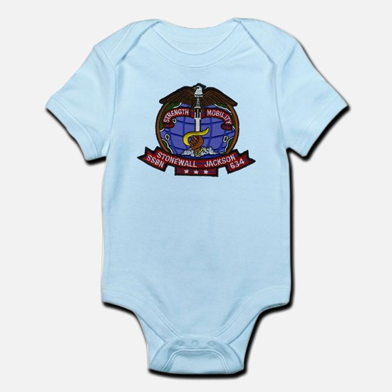 USS STONEWALL JACKSON Baby Light Bodysuit