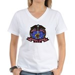 USS STONEWALL JACKSON Women's V-Neck T-Shirt