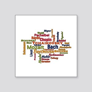 Classical Composers Word Cloud Sticker