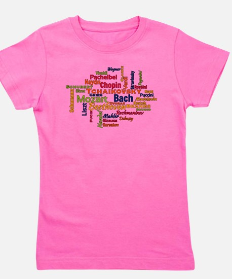 Classical Composers Word Cloud Girl's Tee
