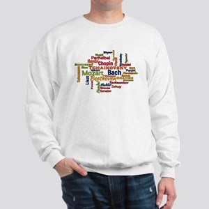 Classical Composers Word Cloud Sweatshirt