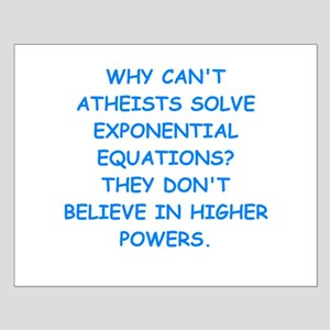 atheist math Small Poster