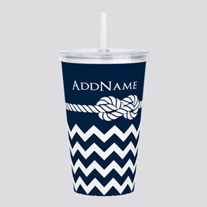 Chevron Rope Knot Pers Acrylic Double-wall Tumbler