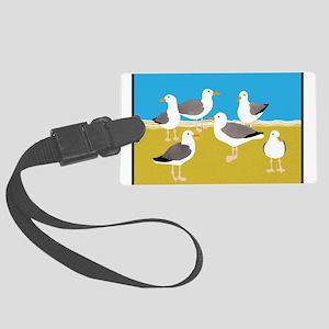 Gang of Seagulls Large Luggage Tag