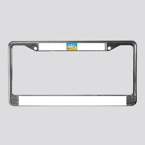 Gang of Seagulls License Plate Frame