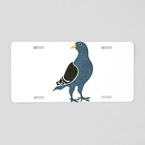 Fashionista Pigeon copy Aluminum License Plate