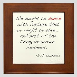 Lawrence on Dance Framed Tile