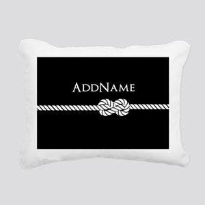 Black Rope Knot Personal Rectangular Canvas Pillow