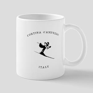 Cortina d'Ampezzo Italy Ski Mugs