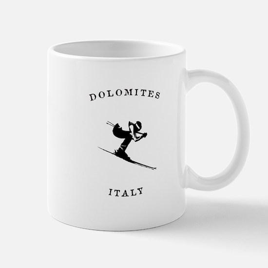 Dolomites Italy Ski Mugs