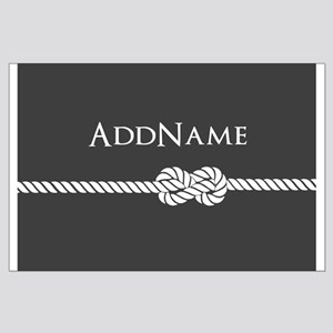 Gray Rope Knot Personalized Large Poster