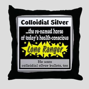 Colloidial Silver Throw Pillow