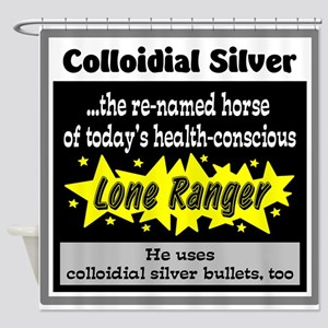Colloidial Silver Shower Curtain