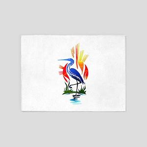 Blue Heron Sun and Marsh 5'x7'Area Rug