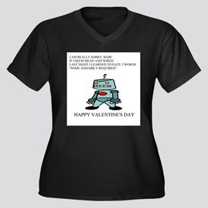 val Women's Plus Size V-Neck Dark T-Shirt