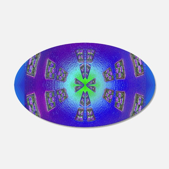 blue psychedelic cros Wall Decal