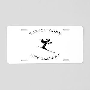 Treble Cone New Zealand Ski Aluminum License Plate