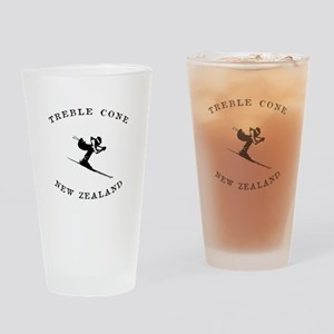 Treble Cone New Zealand Ski Drinking Glass