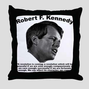 RFK: Revolution Throw Pillow