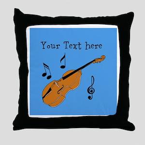 Customizable Violin Design Throw Pillow