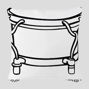 Custom Hand Drum Woven Throw Pillow
