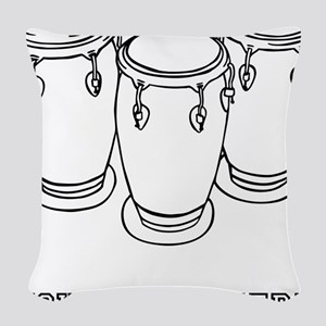 Custom Bongo Drums Woven Throw Pillow