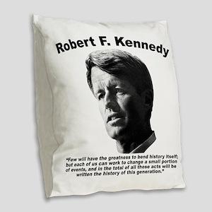 RFK: Change Burlap Throw Pillow