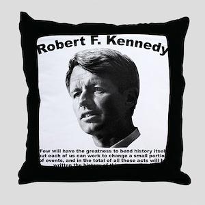 RFK: Change Throw Pillow