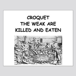 CROQUET6 Small Poster
