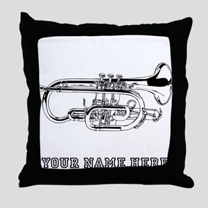 Custom Baritone Horn Throw Pillow