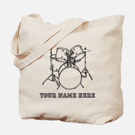 Custom Drum Set Tote Bag