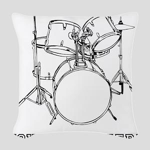 Custom Drum Set Woven Throw Pillow
