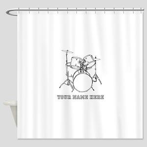 Custom Drum Set Shower Curtain