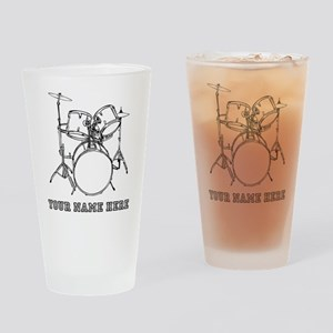 Custom Drum Set Drinking Glass