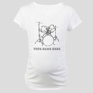 Custom Drum Set Maternity T-Shirt