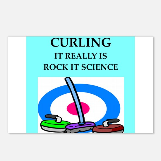 i love curling Postcards (Package of 8)