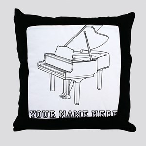Custom Baby Grand Piano Throw Pillow
