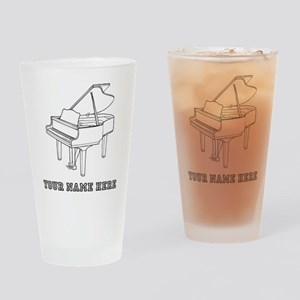 Custom Baby Grand Piano Drinking Glass