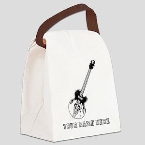 Custom Electric Guitar Canvas Lunch Bag