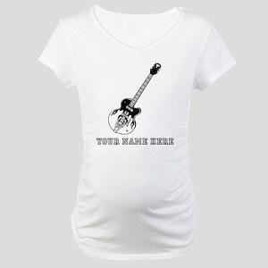 Custom Electric Guitar Maternity T-Shirt