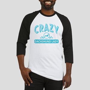 Crazy Dachshund Lady Baseball Jersey