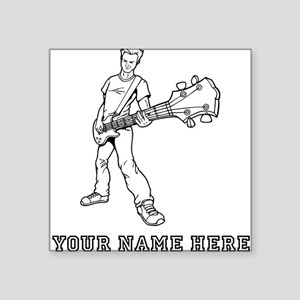 Custom Bass Guitar Player Sticker