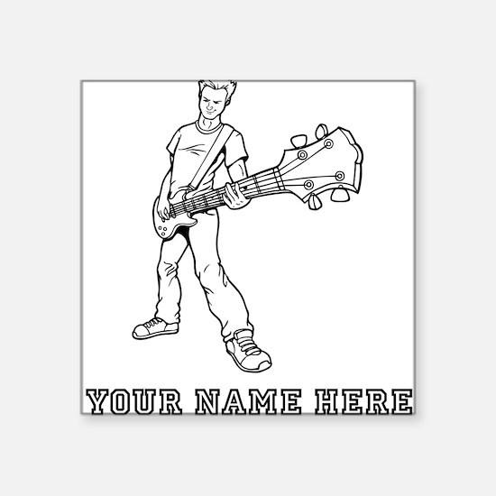 Custom Bass Guitar Player Sticker