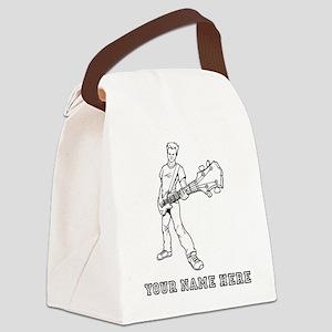 Custom Bass Guitar Player Canvas Lunch Bag