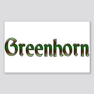 greenhorn Rectangle Sticker