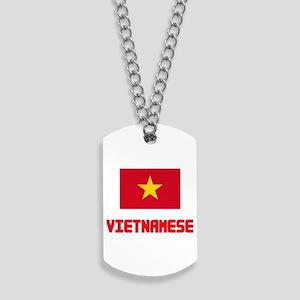 Vietnamese Flag Design Dog Tags